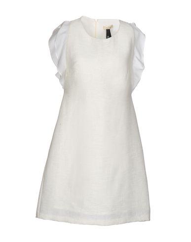 Короткое платье TOY G.. Цвет: слоновая кость