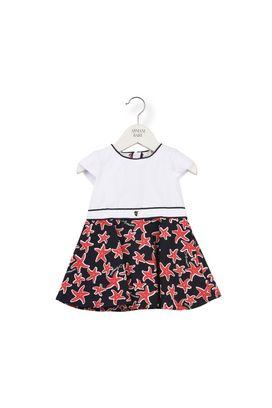 Armani Dresses Women jersey dress with starfish pattern skirt
