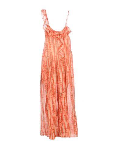 Длинное платье TOY G.. Цвет: оранжевый