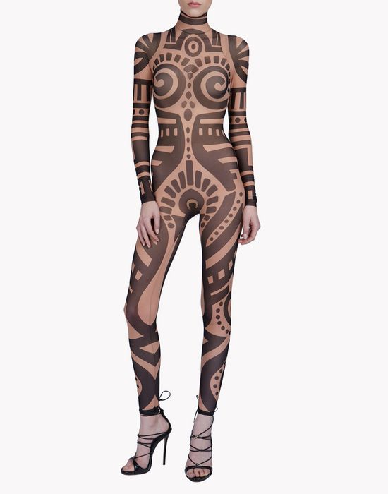 tribal tattoo jumpsuit underwear Woman Dsquared2