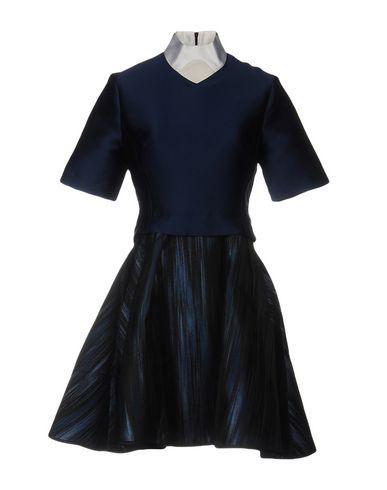 Короткое платье OSTWALD HELGASON. Цвет: темно-синий
