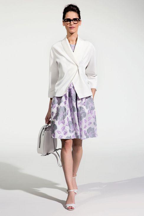 FLORAL JACQUARD DRESS: Short Dresses Women by Armani - 2