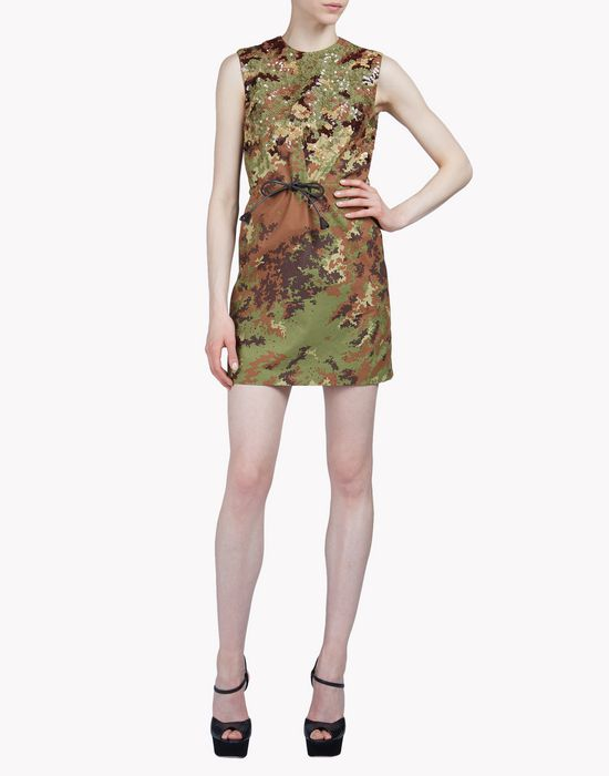 sequin camouflage dress dresses Woman Dsquared2