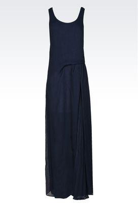 Armani Vestiti lunghi Donna abito lungo in organza con inserto plissé