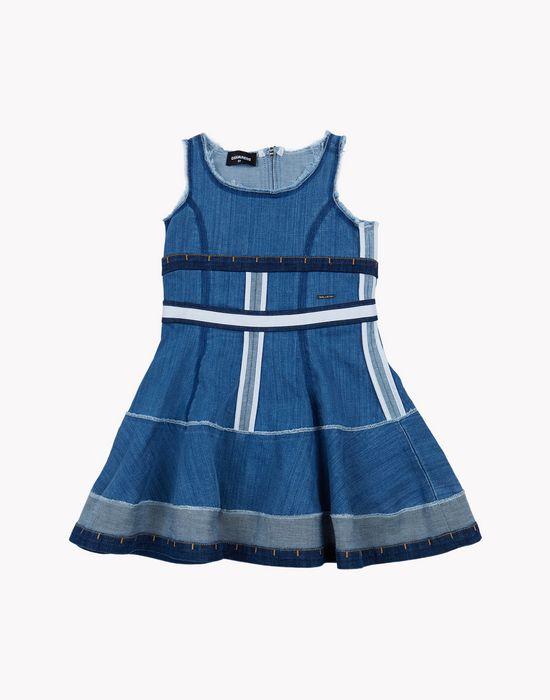 denim patchwork dress dresses Woman Dsquared2