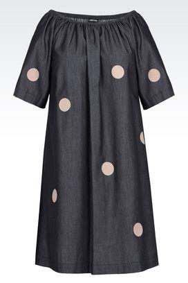 Armani Short Dresses Women boat neck denim dress