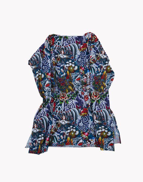tattoo tunic dress dresses Woman Dsquared2