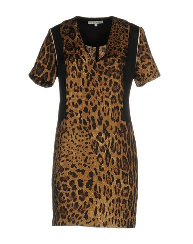 Короткое платье SANDRO. Цвет: хаки