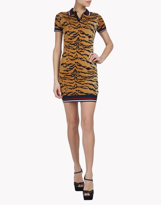 collared leopard dress robes Femme Dsquared2
