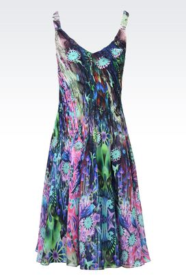Armani Short Dresses Women pure silk chiffon slip dress