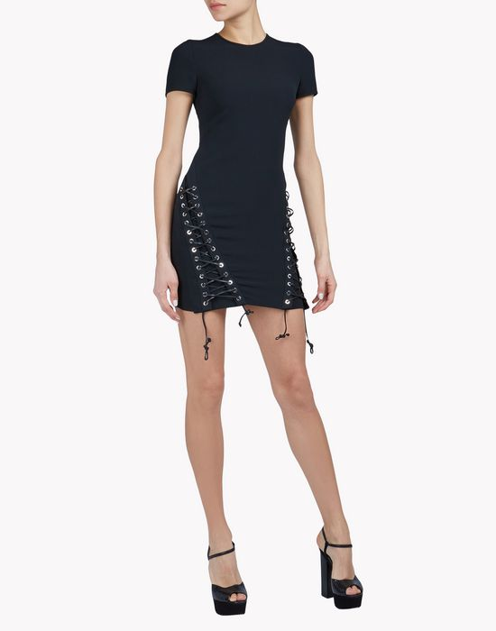 double lace-up dress vestidos Mujer Dsquared2