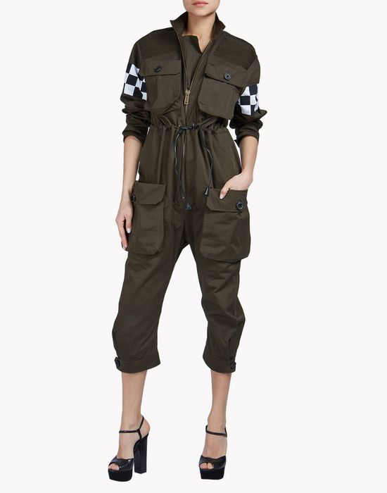 mod biker jumpsuit dungarees Woman Dsquared2