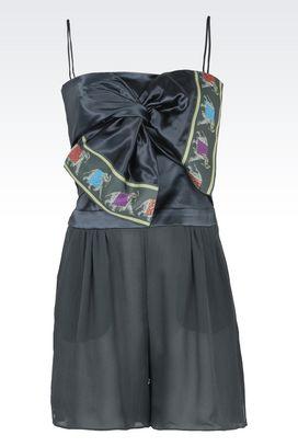 Armani Jumpsuit Donna tuta corta in seta con fiocco