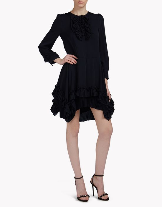silk-georgette carmen dress robes Femme Dsquared2