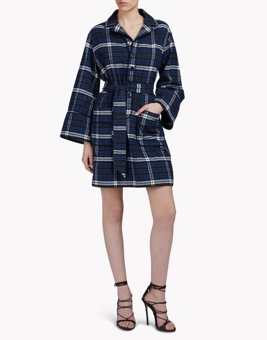 check pyjama dress kleider Damen Dsquared2