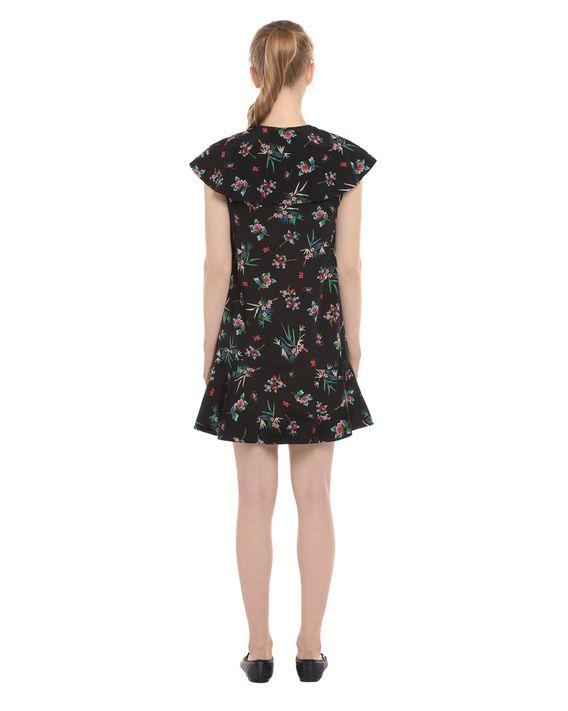 REDValentino Ruffle-detailed Wallpaper Flower printed Silk Dress