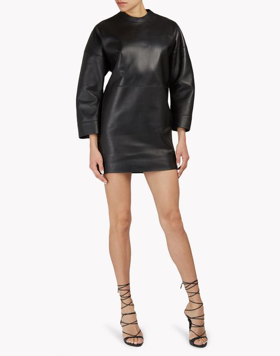 leather box dress kleider Damen Dsquared2