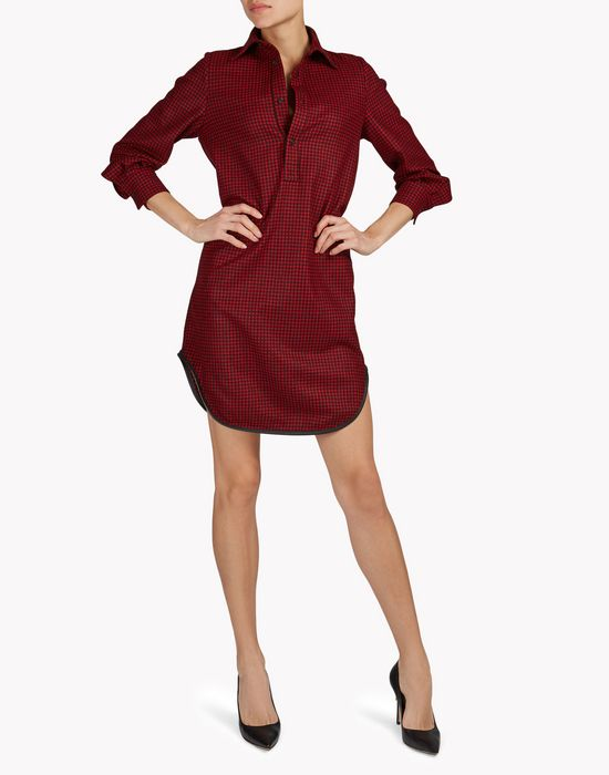 check shirt dress dresses Woman Dsquared2