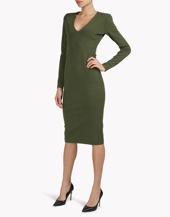 wool midi dress vestidos Mujer Dsquared2