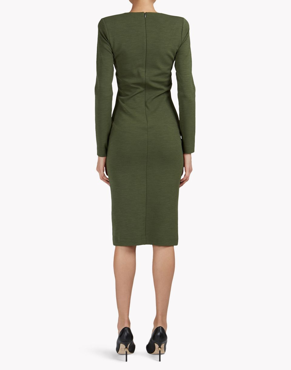 wool midi dress kleider Damen Dsquared2