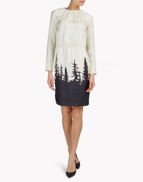 forest silk dress robes Femme Dsquared2