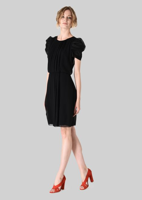 SILK GEORGETTE PRINCESS DRESS: Dresses Women by Armani - 1