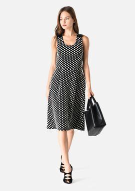Armani Dresses Women thick cotton polka dot dress