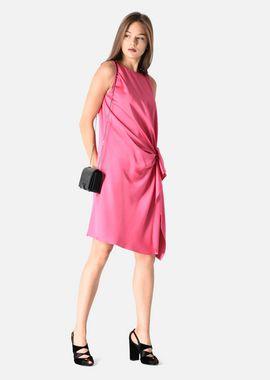 Armani Dresses Women draped sleeveless satin dress