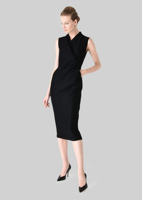 SHEATH DRESS IN STRETCH WOOL JERSEY: Dresses Women by Armani - 3
