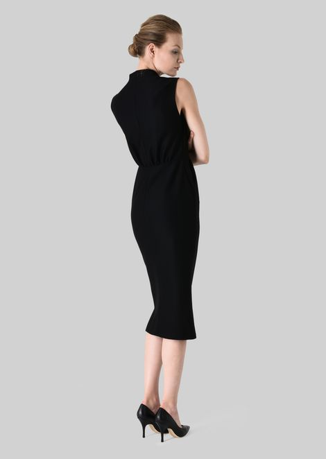 SHEATH DRESS IN STRETCH WOOL JERSEY: Dresses Women by Armani - 4
