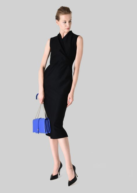 SHEATH DRESS IN STRETCH WOOL JERSEY: Dresses Women by Armani - 1