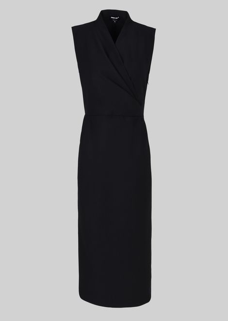 SHEATH DRESS IN STRETCH WOOL JERSEY: Dresses Women by Armani - 2