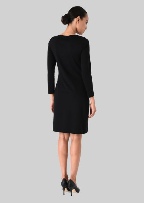 STRETCH JERSEY PRINCESS DRESS: Dresses Women by Armani - 4