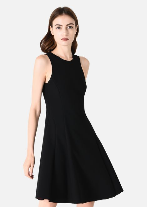 DRESS IN TWO-COLOUR DOUBLE STRETCH FABRIC : Dresses Women by Armani - 3