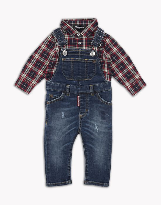 denim dungaree dresses Man Dsquared2