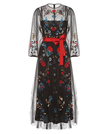 REDValentino NR0VA5L01GK 0NO Embroidered dress Woman a