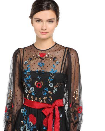 REDValentino NR0VA5L01GK 0NO Embroidered dress Woman e