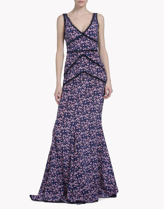 floral maxi dress robes Femme Dsquared2