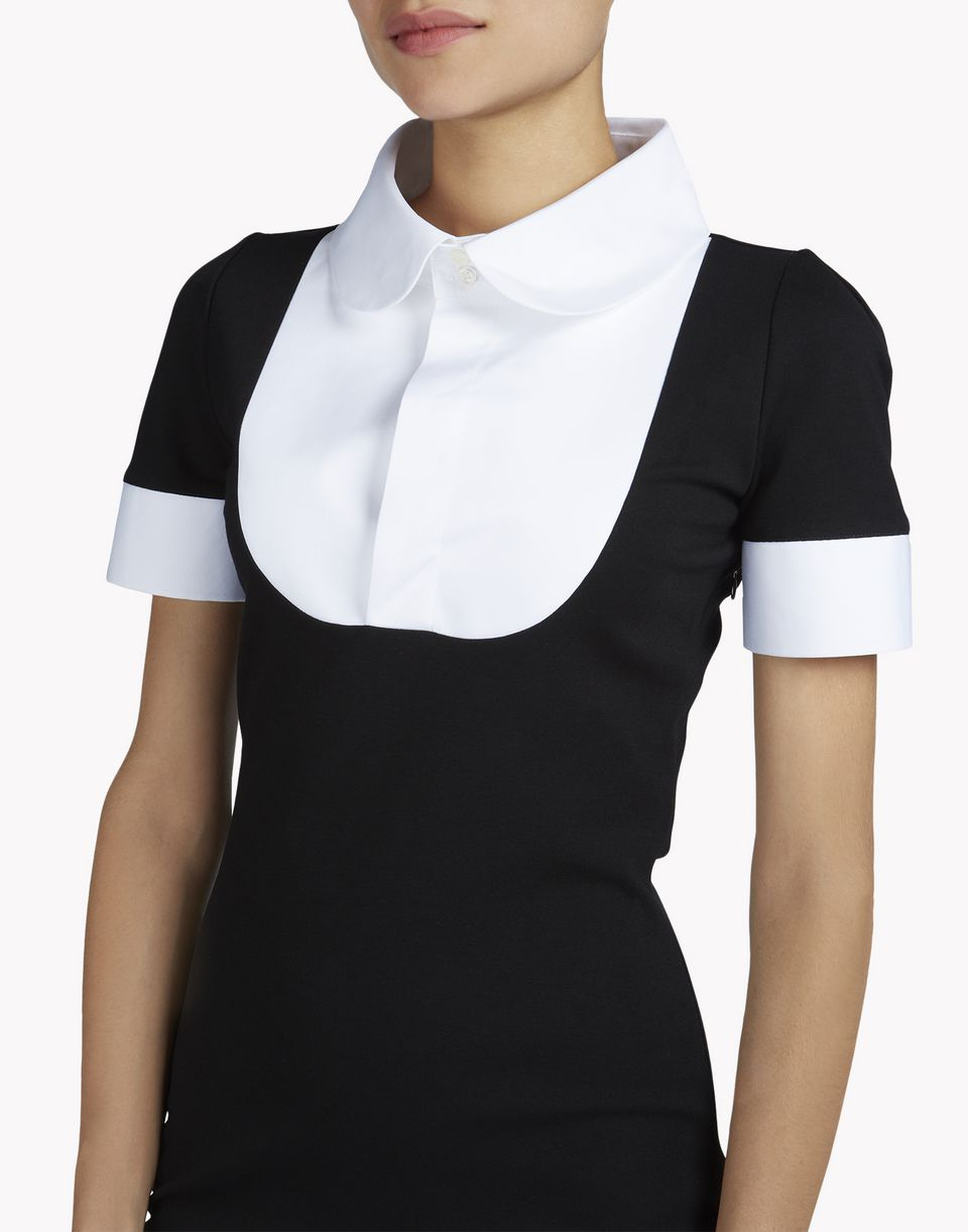 jersey short-sleeve collar bib dress dresses Woman Dsquared2