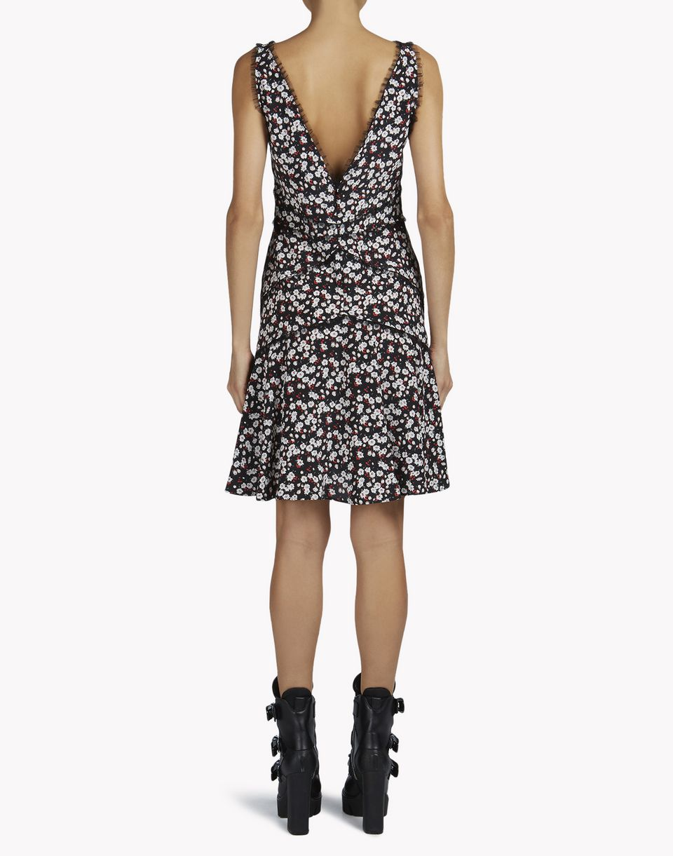 silk floral dress dresses Woman Dsquared2
