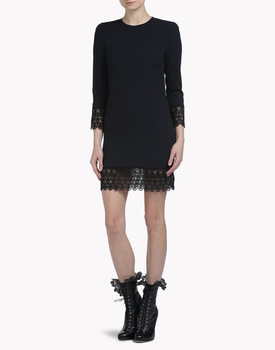 lace trimmed mini dress robes Femme Dsquared2
