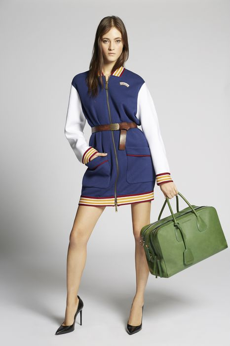 scout jersey zipped bomber dress платья Для Женщин Dsquared2