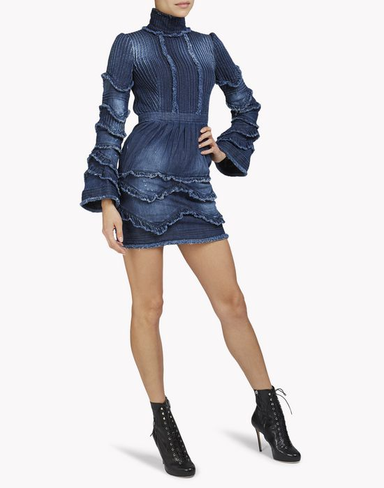 modern amish denim dress dresses Woman Dsquared2