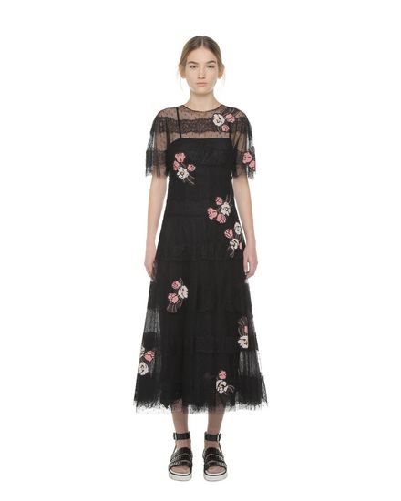 REDValentino Embroidered dress Woman PR3VA6501GK 0NO f