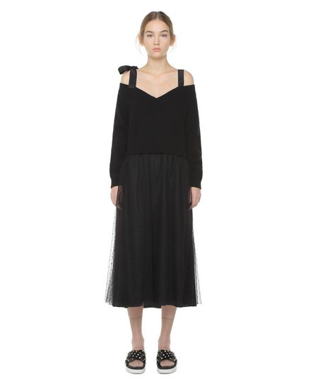 REDValentino Knit Dress Woman PR3KD0X13Y8 0NO f