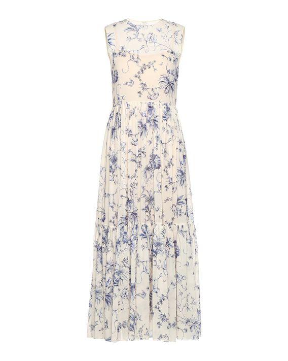 REDValentino Toile De Jouy Monkey Print Silk Dress - Printed Dress ...