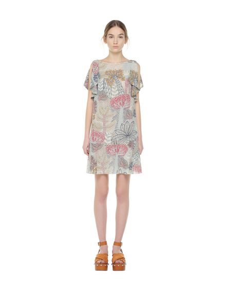 REDValentino Printed dress Woman PR0VA6X53N2 A03 f