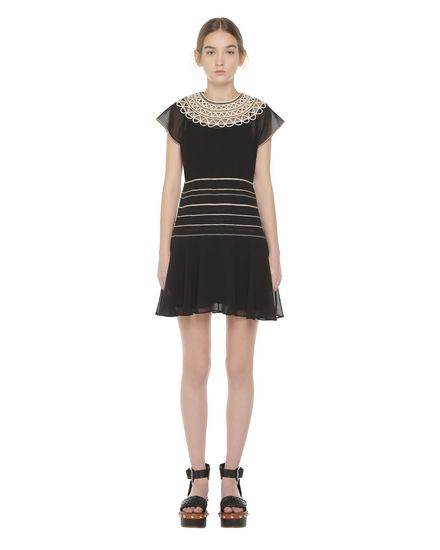 REDValentino Embroidered dress Woman PR0VA08V3QB 0NA f