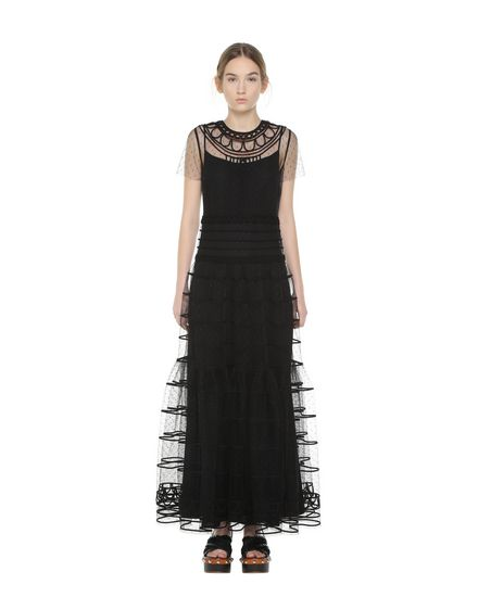 REDValentino Embroidered dress Woman PR0VA09A3QD 0NO f