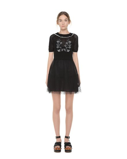 REDValentino Knit Dress Woman PR0KD0W23R0 0NO f